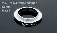M42 m4/3 mFt flange Mount adapter fr E-M5 E-M1 GH3 GH4 OM-D to use helicoid tube