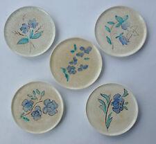5 x Roesler Max Art Deco Keramik Untersetzer ~1930 ceramic costers