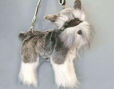 Rare Fuzzy Nation 'Love on a leash' Miniature Schnauzer Puppy Purse Handbag
