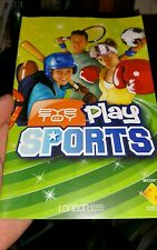 BOOKLET/MANUAL ONLY FOR EYE TOY PLAY SPORTS PS2 (NO GAME) -  FREE POST *