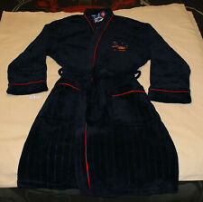 Adelaide Crows AFL Mens Est Navy Blue Fleece Dressing Gown Robe One Size New