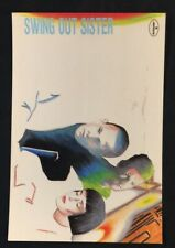1990's SWING OUT SISTER English Pop Group PolyGram Records official postcard