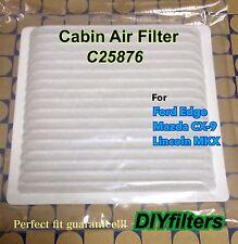 C25876 Non-Carbon AC CABIN AIR FILTER for 07-16 MAZDA CX-9 FORD EDGE LINCOLN MKX
