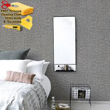 3D Dark Gray Wallpaper Background Modern Wall Vinyl Film Peel-and-Stick Embossed