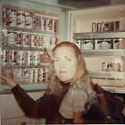 1970s's Jax Beer Cans Double Image Pretty Woman Red Hair Found Photo Picture