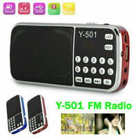 Y-501 Digital Portable FM Radio Mini MP3 Player USB  Card with LED Flashlight