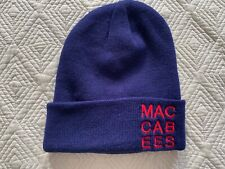 The Maccabees Blue Navy Beanie Wool Hat