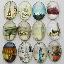 20pcs Oval Clear Cabochons Flatbacks Resin Dome Cameos 35mm Europe Style