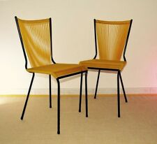 ANDRE MONPOIX ed Meuble TV: Paire Chaises 1960 French Plastic Cord Garden Chairs