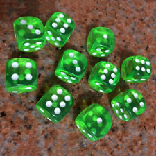 10Pcs 16mm Clear Transparent Six Sided Spot Dice Toys D6 RPG Role Playing Game
