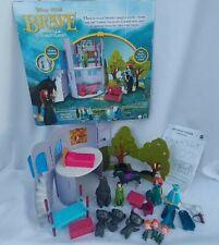 Disney Brave Castle Forest Playset Merida Magiclip Horse Furniture Bears Pixar