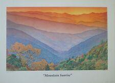 "Sid Weinbach ""Mountain Sunrise"" LTD ED  S/N print from original colored pencil"
