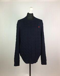 Polo Ralph Lauren Men's Jumper Sweater 100% Cotton Size XL TG