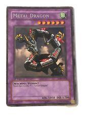 Yugioh Card | Metal Dragon - LOB-A102 - Rare - 1st Edition MP