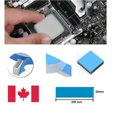 2 strips 20x200mm long Heatsink Thermal Adhesive Tape. Double Sided.Cut-to-size.