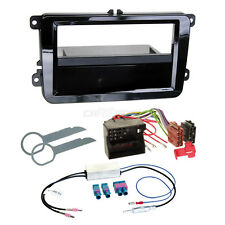 VW Golf 5 03-09 1-din Car Radio Installation Kit Adapter Cable Panel High Gloss