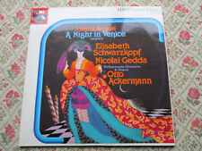 JOHANN STRAUSS A NIGHT IN VENICE ELISABETH SCHWARZKOPF OTTO ACKERMANN HMV 2LP