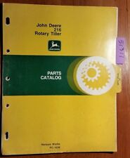John Deere 216 Rotary Tiller S/N 80,001- Parts Catalog Manual Pc-1638 11/77