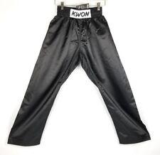 NEW Karate Youth Pants Tae Kwon Do Small Martial Arts Jiu Jitsu Kids Black J13