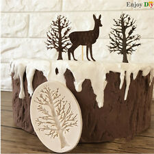 3D Tree Branch Silicone Fondant Cake Decorating Mould Ice Paste DIY Mold
