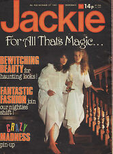 Jackie Magazine 31 October 1981 No. 930  Lewis Collins The Professionals Madness