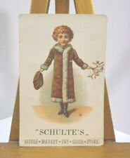 Schulte's Biddle Market Dry Goods Store Advertisement Card