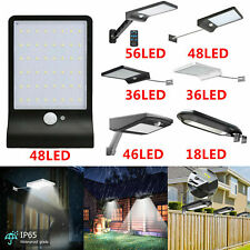 LED Solar Power Wall Outdoor Street PIR Motion Sensor Garden Yard Light Lamp UK
