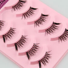 Hot ! 5 Pairs Sparse Half Fake Eyelashes Mini Cross Extension False Eye Lash