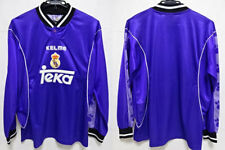 1997-1998 Real Madrid Retro Vintage Jersey Shirt Camiseta Away Teka KELME M L/S