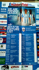 Huddersfield Town Official Fixture Poster for 2017/18 Premier League season