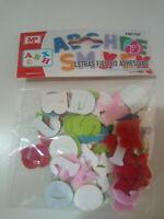 Blister letras de fieltro de colores adhesivas pequeñas manualidades colegio