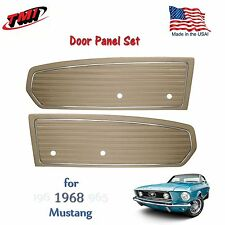 Parchment Door Panels For 1968 Mustang Pair by TMI-Made in the USA