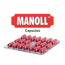 Pack of 4 Ayurveda Charak Manoll 20 Capsule Each (4 X 20 = 80Cap) Free Shipping
