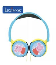 Peppa Pig Foldable Stereo Childrens Headphones Volume Limiter Lexibook HP015PP