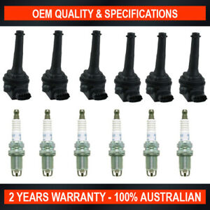 Pack of SWAN Ignition Coils & NGK Spark Plugs for Volvo S80 B6294S2 (2.9L)