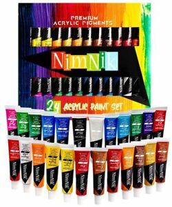 Acrylic Paints Set for Artists Kids Adults Beginners Professionals - 24 x 12ml