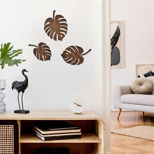 Wanddekoration aus Holz in floralem Stil - 3 Palmblätter für Wand, Fenster & Tür