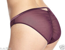 "Deep Purple Keyhole Brief Knickers Pretty Spotty Panties  UK 10 S  37"" hips"