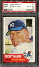 MICKEY MANTLE 1996 TOPPS MANTLE 1953 TOPPS REPRINT #3 PSA 10