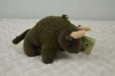 National Park Trust Buddy Bison Plush Stuffed Animal Toy Brown Metal Clip