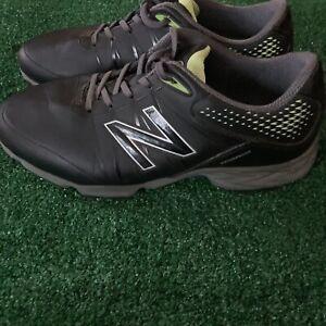 New Balance NBG2004 Waterproof Spiked Golf Shoe Black/Green Men's Size 10 (4E)