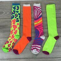 4 X Miss Fiori Knee High Socks Ladies UK 4 - 8 B351-13