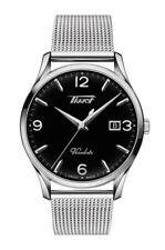New Tissot Heritage Visodate Mesh Steel Bracelet Mens Watch T1184101105700
