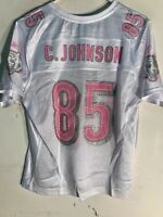 53ef05e5b Reebok Women's NFL Jersey Cincinnati Bengals Chad Johnson White Pink  Numbers XL