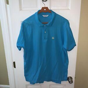 Brooks Brothers Golden Fleece Polo Shirt Men Extra Large XL Blue Cotton USA Made