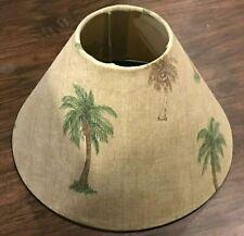 Palm Tree Tropical Handmade Lamp Shade Beige/sand color