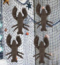 Cast Iron Nautical Cajun Crawfish Baby Lobster Decorative Accent Decor Set Of 4