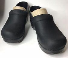 Dansko Womens 206020202 Professional Oiled Black Nurse Shoes Clogs 37 US 6.5/7