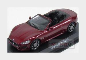 Maserati Grancabrio Sport Spider 2013 Red Met Edicola 1:43 MASCOL004