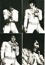 Elvis Presley 9 Photo Set-Rare White COSSACK Jumpsuit - Las Vegas 1970 & FREE CD